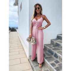 Γυναικεία ολόσωμη φόρμα 5101 ροζ