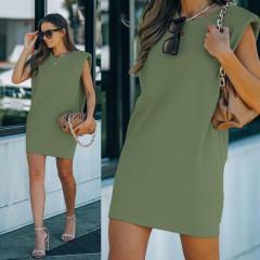 Γυναικείο μπλουζοφόρεμα με βάτες 2984 χακί