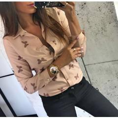Γυναικείο πουκάμισο 7045 ροζ