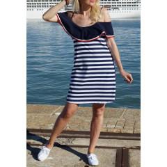 Γυναικείο φόρεμα ριγέ 5139