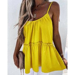 Γυναικείο τοπάκι με κορδόνια 5645 κίτρινο