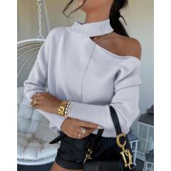 Γυναικεία εντυπωσιακή μπλούζα 8095 γκρι