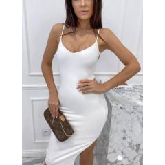 Γυναικείο εφαρμοστό φόρεμα 4531 άσπρο