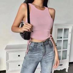 Γυναικείο τοπάκι με κορδόνια 2996 ροζ