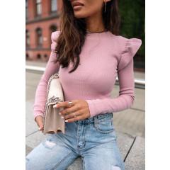 Εντυπωσιακή εφαρμοστή μπλούζα 5400 ροζ