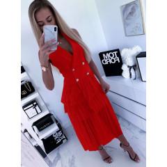 Γυναικείο φόρεμα 3685 κόκκινο
