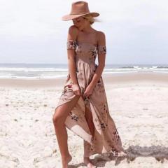 Γυναικείο φόρεμα 10019 ροδακινί