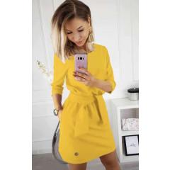 Γυναικείο φόρεμα 3327 κίτρινο ανοιχτό