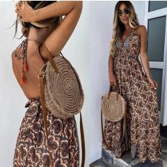 Γυναικείο μακρύ φόρεμα με σχέδια 500302