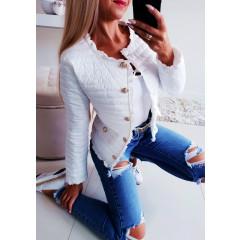 Γυναικείο ανοιξιάτικο μπουφάν 5520 λευκό