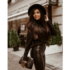 Γυναικεία μπλούζα ζιβάγκο 14216 μαύρη
