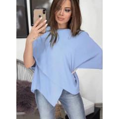 Γυναικεία εντυπωσιακή μπλούζα 3024 γαλάζια