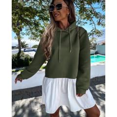 Γυναικείο μπλουζοφόρεμα 5540 σκούρο πράσινο