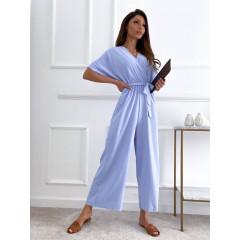 Γυναικεία ολόσωμη φόρμα 14724 γαλάζια