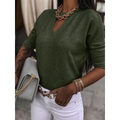 Γυναικεία εντυπωσιακή μπλούζα 5377 χακί