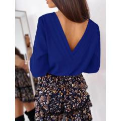 Γυναικεία μπλούζα με ανοιχτή πλάτη 3856 μπλε