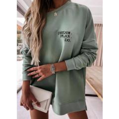 Γυναικείο χαλαρό μπλουζοφόρεμα 4471 πράσινο