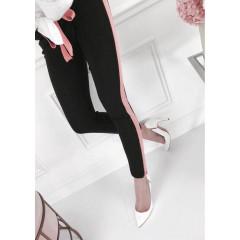 Γυναικείο παντελόνι με ρίγα 0066 ροζ