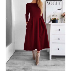 Γυναικείο φόρεμα 2241 μπορντό