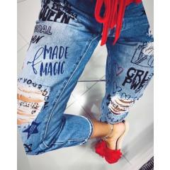 "Дамска рокля ""Mos girl"" 4503 сив/червен"