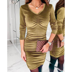 Γυναικείο εφαρμοστό φόρεμα 3434 καμηλό