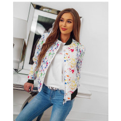 Γυναικείο μπουφάν με print 81975 πολύχρωμο