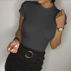 Γυναικεία μπλούζα με κοντό μανίκι 3813 γκρι