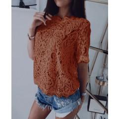 Γυναικεία μπλούζα 100100 καφέ