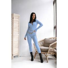 Εφαρμοστή ολόσωμη φόρμα 34951 γαλάζιο