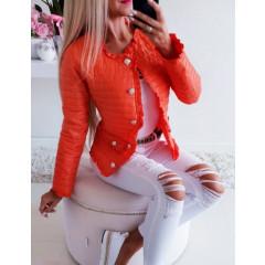 Γυναικείο ανοιξιάτικο μπουφάν 5520 πορτοκαλί