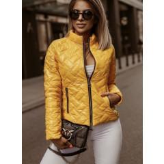 Γυναικείο μπουφάν λουστρίνι 81958 κίτρινο