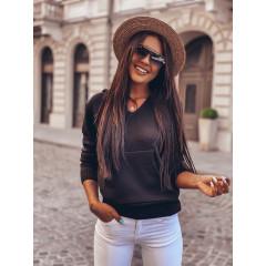 Γυναικείο πουλόβερ με τσέπη  8069 μαύρο