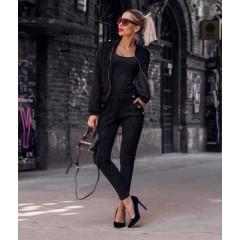 Γυναικείο σετ μπουφάν και παντελόνι 3734 μαύρο