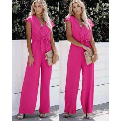 Γυναικεία χαλαρή ολόσωμη φόρμα 5689 φούξια