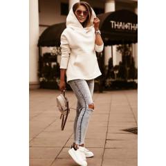 Γυναικείο φούτερ με κουκούλα 4100 άσπρο