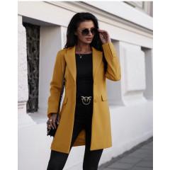 Γυναικείο παλτό 3825 κίτρινο