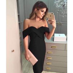 Γυναικείο φόρεμα 09236 μαύρο
