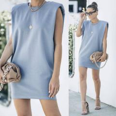 Γυναικείο μπλουζοφόρεμα με βάτες 2984 γαλάζιο