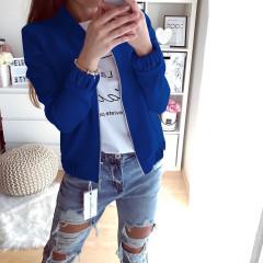 Γυναικείο μπουφάν με λάστιχο 3088 μπλε
