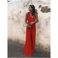 Γυναικεία ολόσωμη φόρμα 88332 κόκκινη