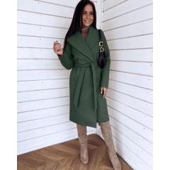Γυναικείο μακρύ παλτό 3821 πράσινο