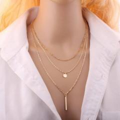 Γυναικείο τριπλό κολιέ SP111 χρυσαφί