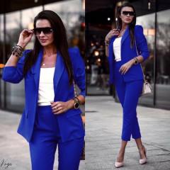 Γυναικείο σετ σακάκι και παντελόνι 3970 μπλε