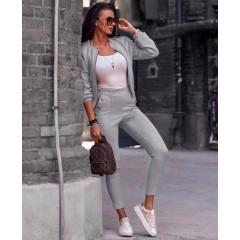 Γυναικείο σετ μπουφάν και παντελόνι 3734 γκρι