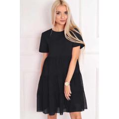 Γυναικείο φόρεμα με τούλι στο κάτω μέρος 5060 μαύρο