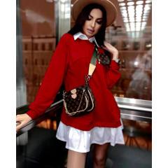 Γυναικείο μπλουζοφόρεμα 5462 κόκκινο