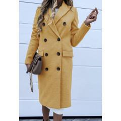 Γυναικείο παλτό 3836 κίτρινο