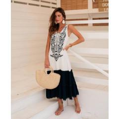 Γυναικείο εντυπωσιακό φόρεμα με έθνικ σχέδια 21247