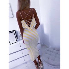 Γυναικείο φόρεμα 5529 κίτρινο