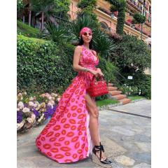 Γυναικείο φόρεμα φιλιά 3132 ροζ